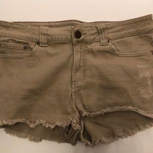 Light Brown Short Shorts (Tan)